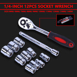 1/4-Inch ( 6.3MM ) 12pcs Socket Wrench Set