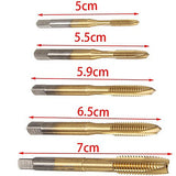 5pcs/set HSS Titanium Machine Right Hand Tap Drill