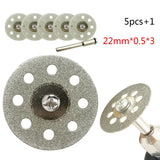 5pcs Emery Diamond Coated Double Side Cutting Discs