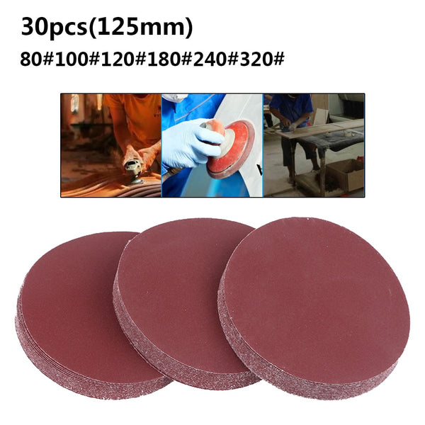 Round Sandpaper Disk 30pcs/set
