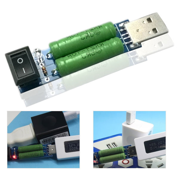 USB Charge Current Detection Load Testing instrument 2A/1A