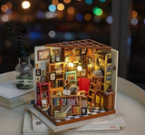 Miniature dollhouse rooms