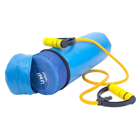 Foam Roller (45cm) with Resistance Band