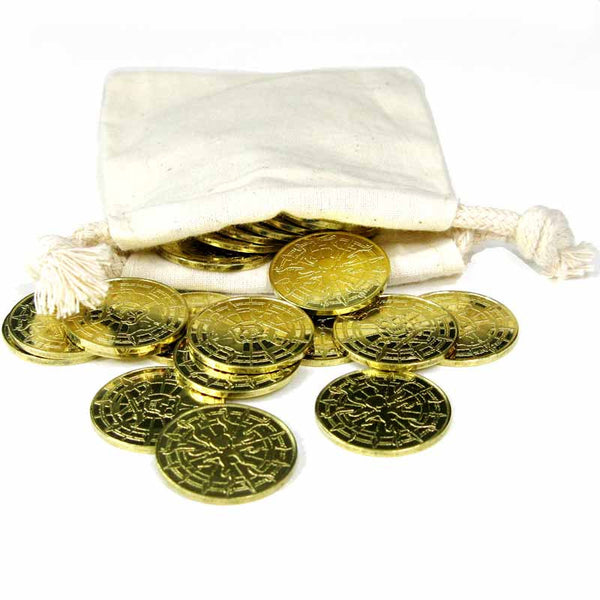 Gold Pirate Coins in Varying Quantities