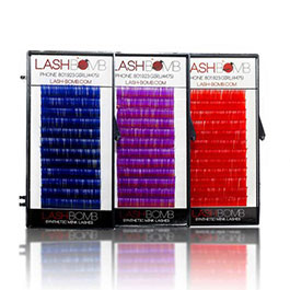 Eyelash extensions COLOR LASH: C CURL VOLUME .07
