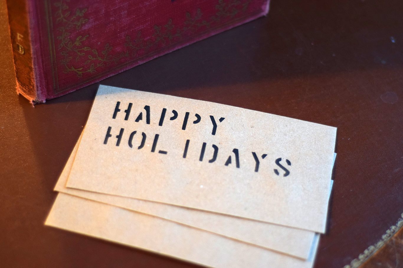 Stenciled Gift Envelope – Happy Holidays