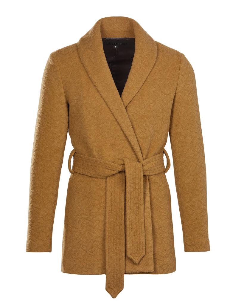 Belted Shawl Collar Coat  Outerwear - Arcady
