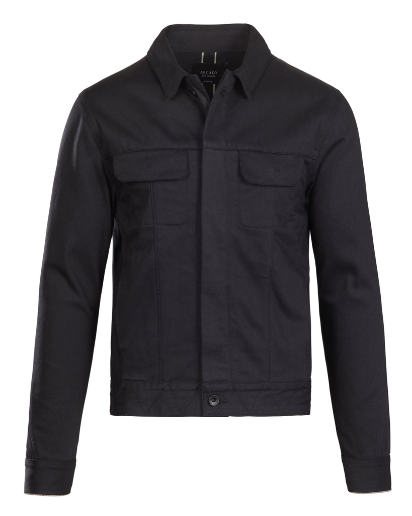 Black Selvedge Denim Jacket  Outerwear - Arcady