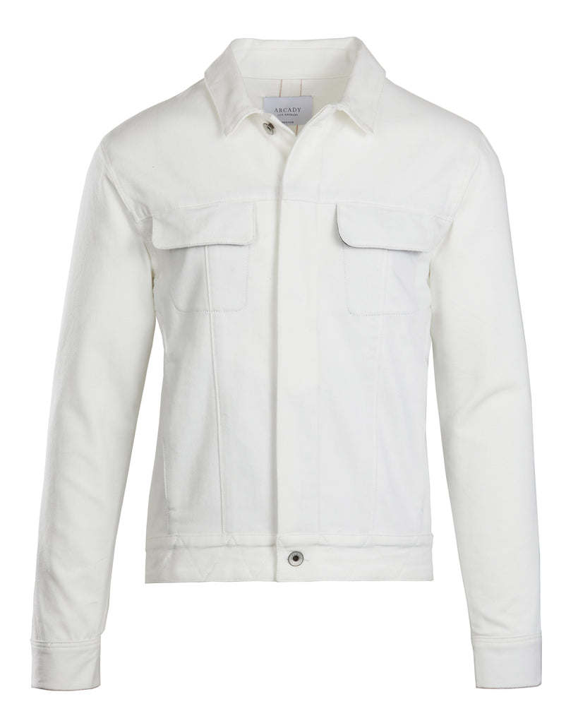 White Selvedge Denim Jacket  Outerwear - Arcady