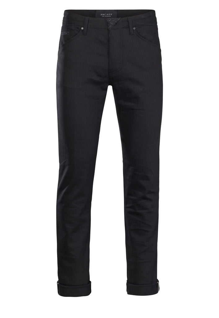 Black Selvedge Straight-Leg Denim Jean  Bottoms - Arcady