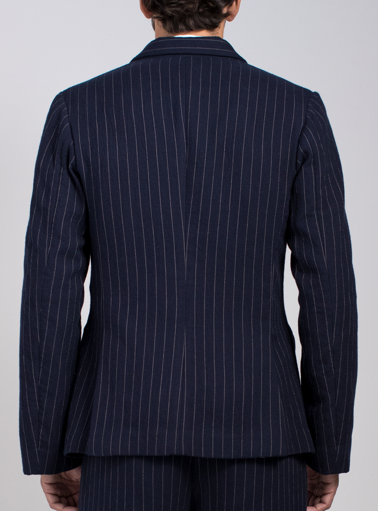 Downtown Double-Breasted Pinstripe Blazer  Outerwear - Arcady