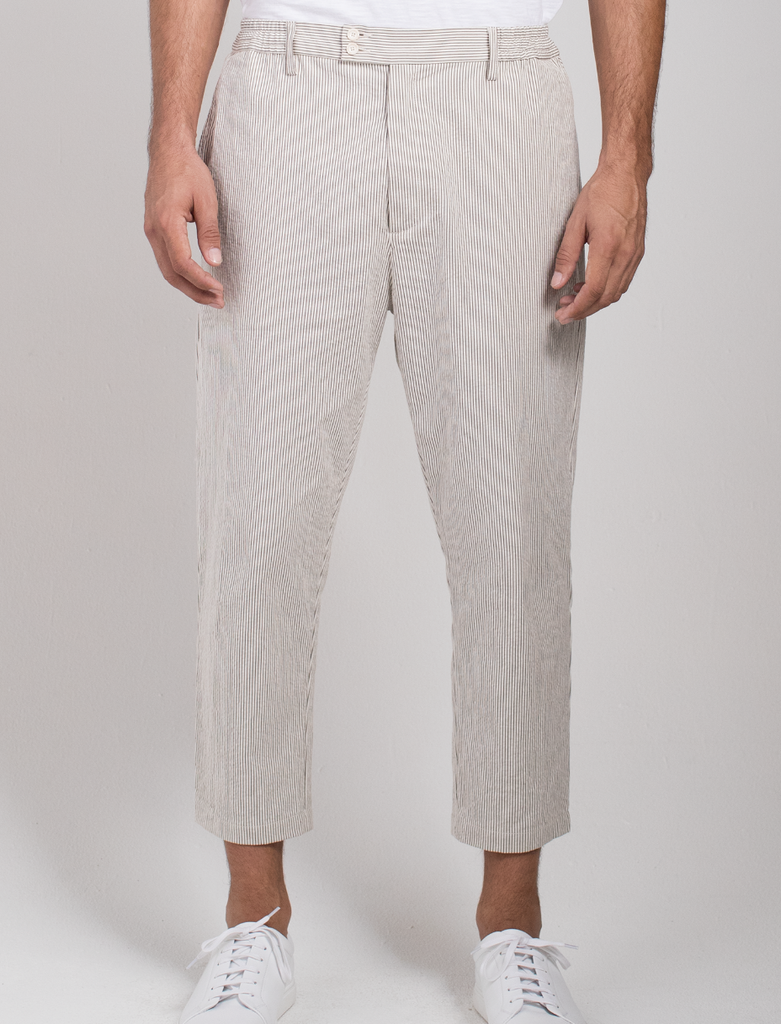 Signature Micro Stripe Crop Pant  Bottoms - Arcady