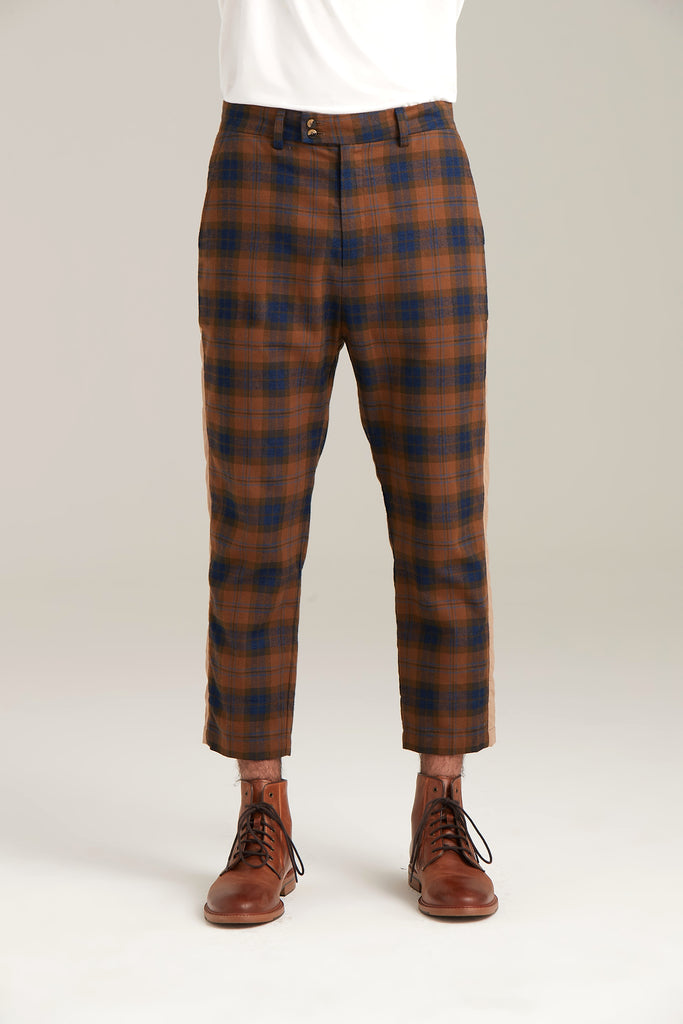 Plaid Cropped Pant  Bottoms - Arcady