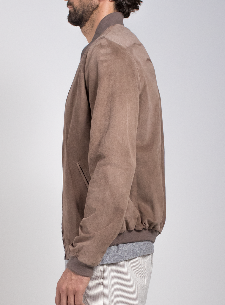 Lamb Suede Spring Bomber  Outerwear - Arcady