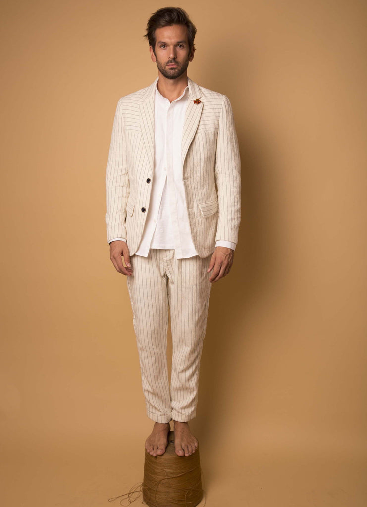 Uptown Single-Breasted Pinstripe Blazer  Outerwear - Arcady