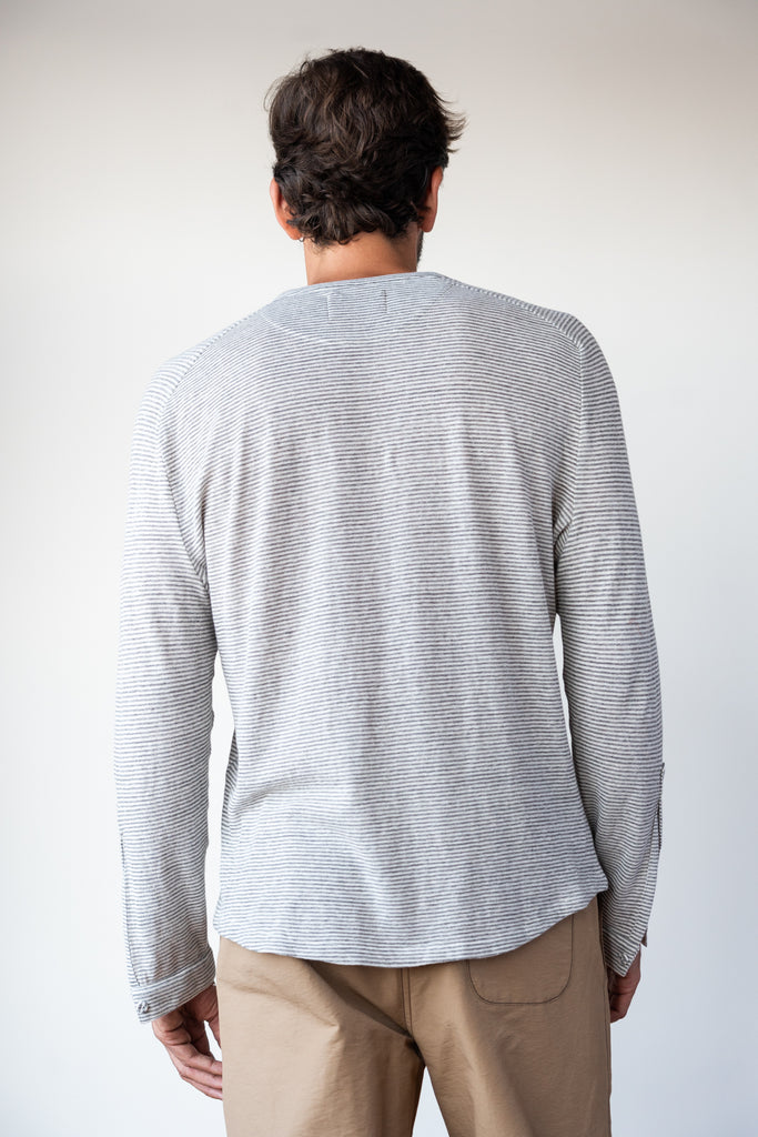Striped Henley  Tees - Arcady