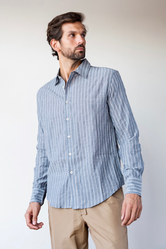 Striped Button Down  Shirts - Arcady