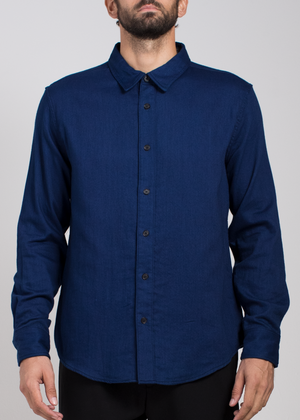 Indigo Button Down