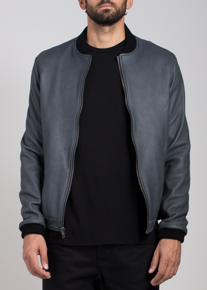 Leather Bomber  Outerwear - Arcady
