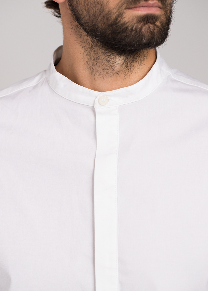 Mandarin Collar Button Down  Shirts - Arcady