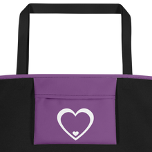 Load image into Gallery viewer, Logo Purple & White Bag