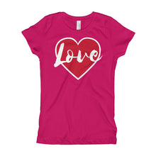 Load image into Gallery viewer, Love Girl's (Princess Style) T-Shirt