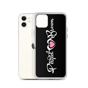 Perfect Brown (Signature) iPhone Case (Blk)
