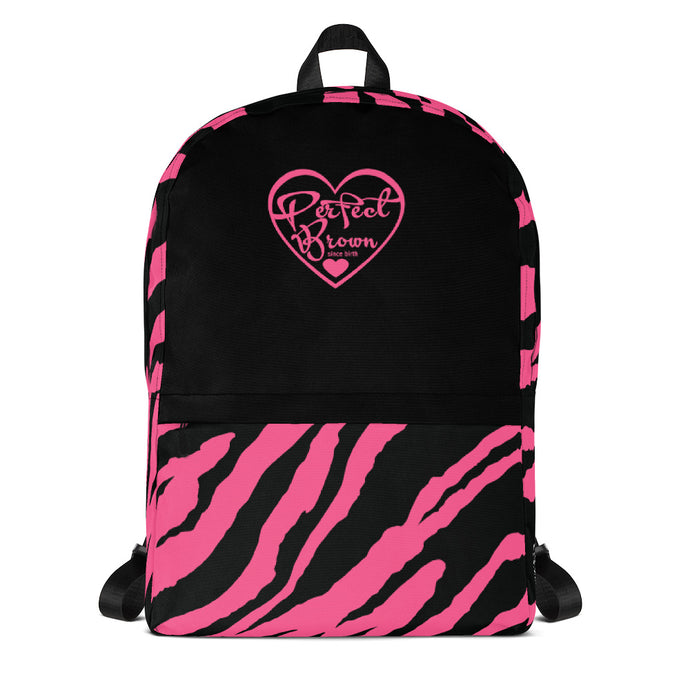 Perfect Brown Lil Logo (pink) Backpack