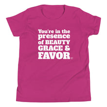 Load image into Gallery viewer, Beauty, Grace and Favor Girl's T-Shirt