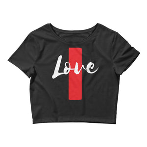 Love Lines Girl's Crop Tee