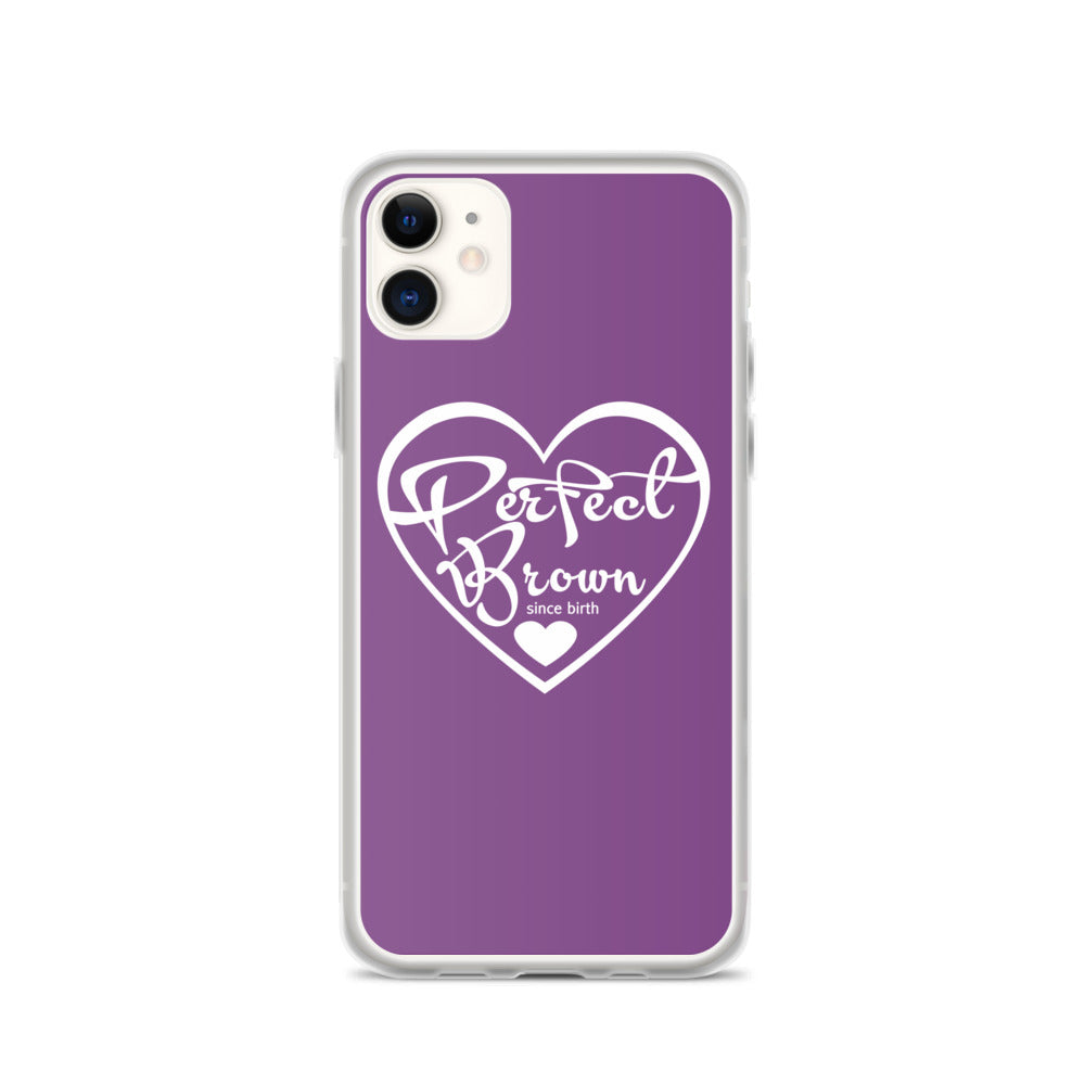 Perfect Brown Logo iPhone Case (Purple)