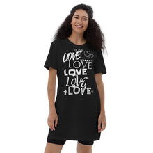 Load image into Gallery viewer, Lots of LOVE t-shirt dress