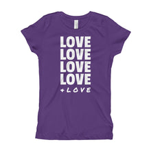 Load image into Gallery viewer, LOVE LOVE LOVE Girl's (Princess Style) T-Shirt