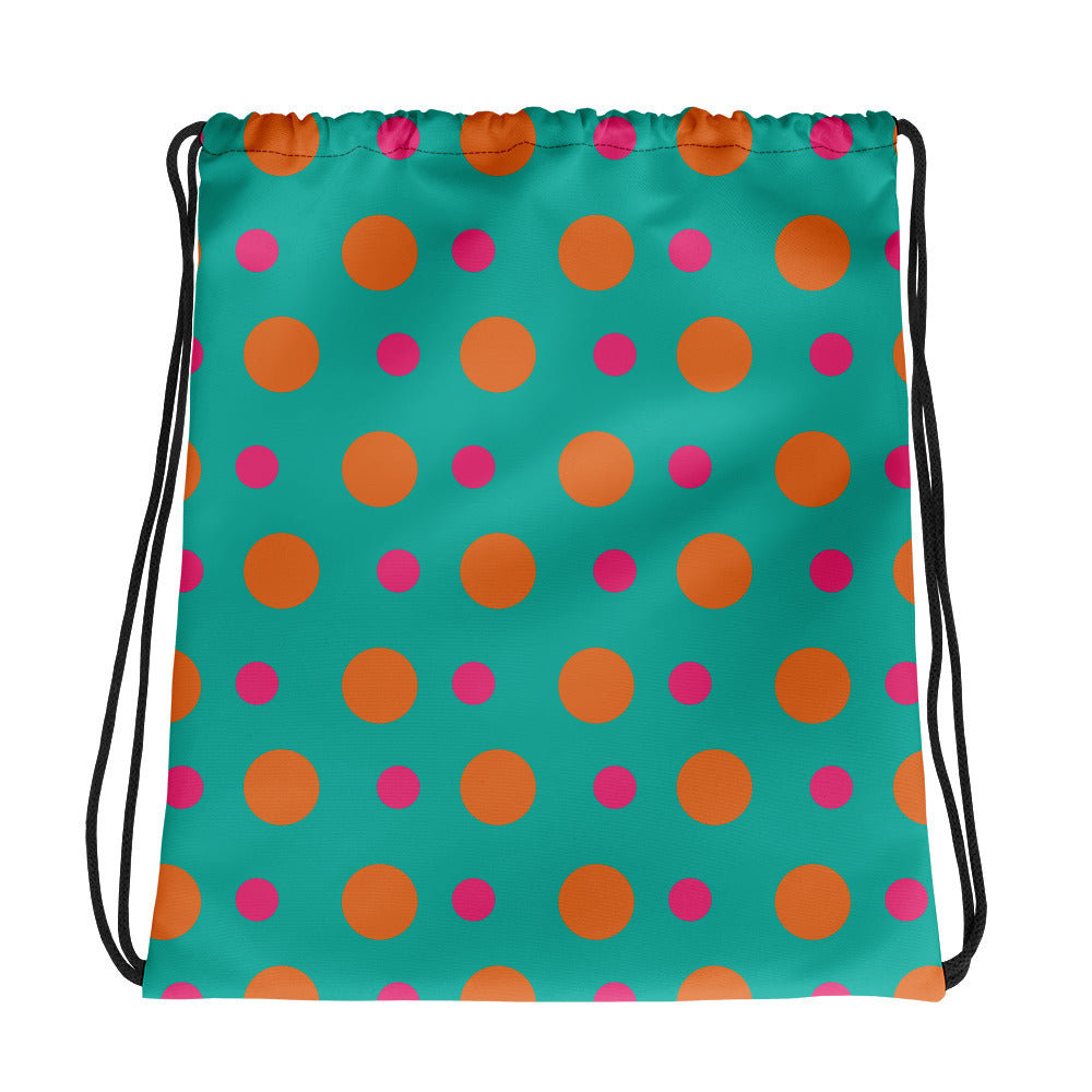 Orange Moon Drawstring bag