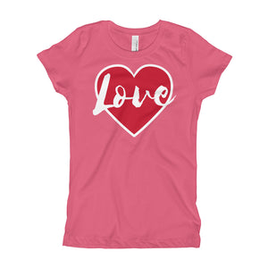 Love Girl's (Princess Style) T-Shirt