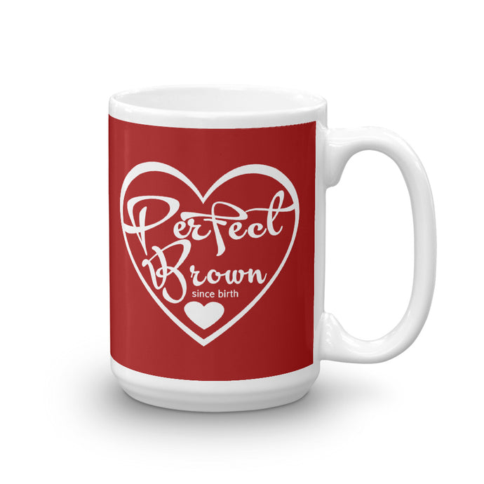 Perfect Brown Logo Mug (Red)