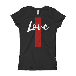 Love Line Girl's (Princess Style) T-Shirt