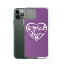 Load image into Gallery viewer, Perfect Brown Logo iPhone Case (Purple)