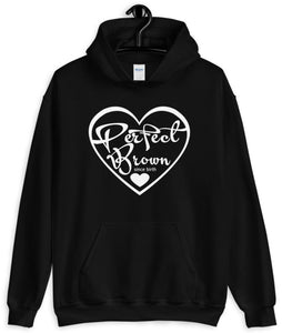 Perfect Brown Logo Adult Hoodie