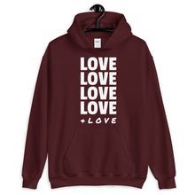 Load image into Gallery viewer, LOVE LOVE LOVE Hoodie (two sided)