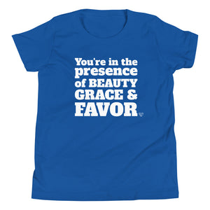 Beauty, Grace and Favor Girl's T-Shirt