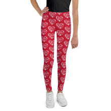 Load image into Gallery viewer, I am Perfect Brown Logo (Red) Girls Leggings