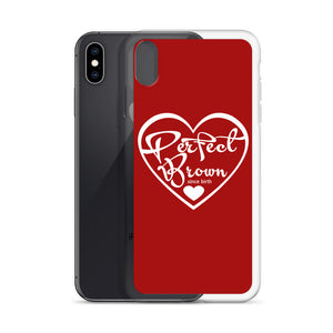 Perfect Brown Logo iPhone Case (Red)