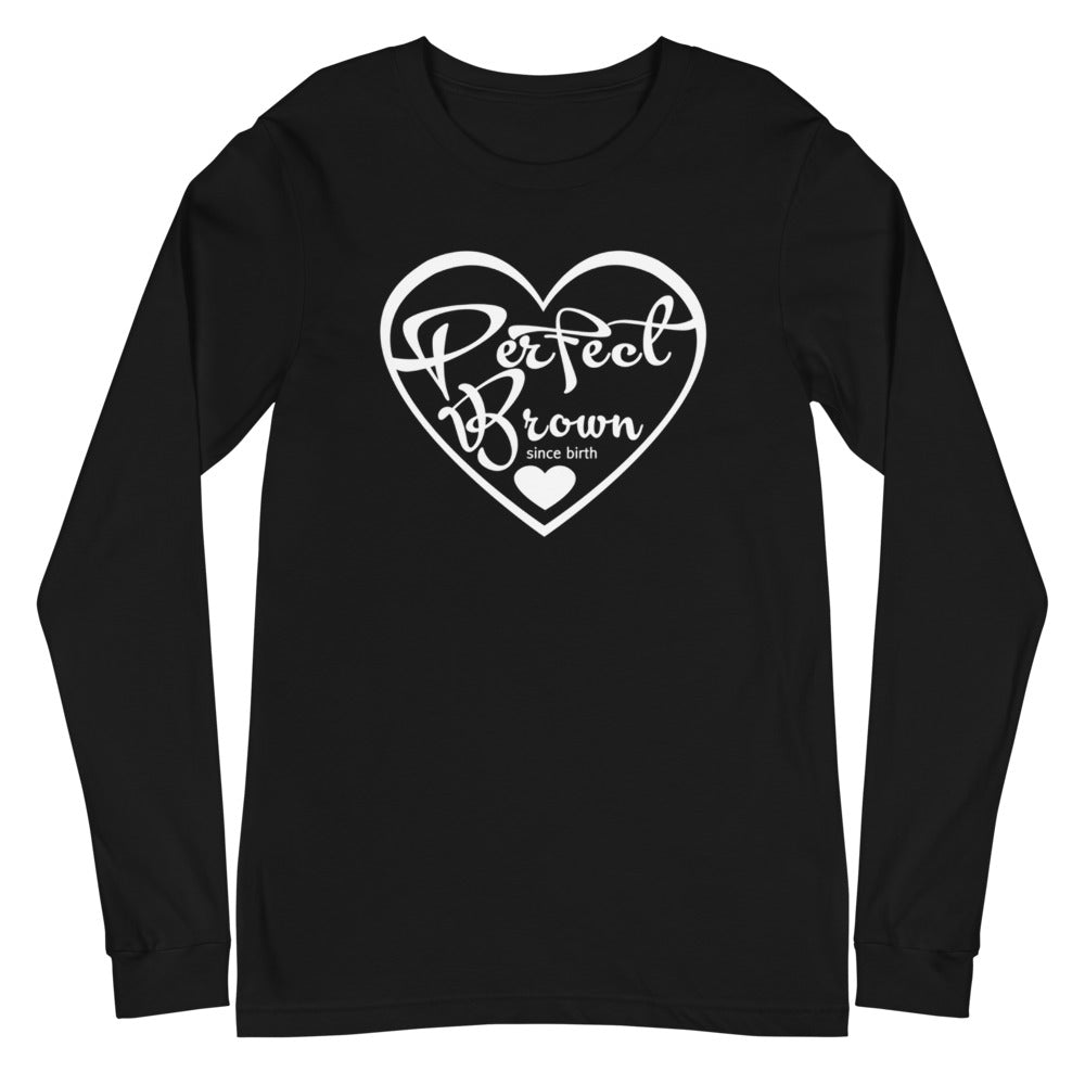 Perfect Brown Logo Unisex Long Sleeve Tee
