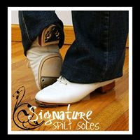 Split Sole Clogging Shoe (Adult Sizes) -- BUCK TAPS installed