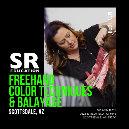freehand and balayage haircolor techniques class in scottsdale arizona