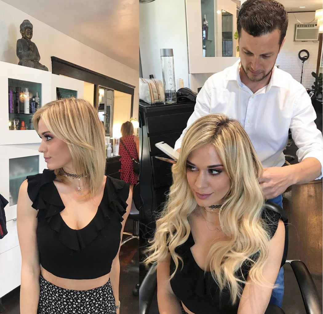 learn how to hand tied hair extensions