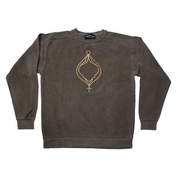 TOVE LO LOGO SWEATSHIRT BROWN