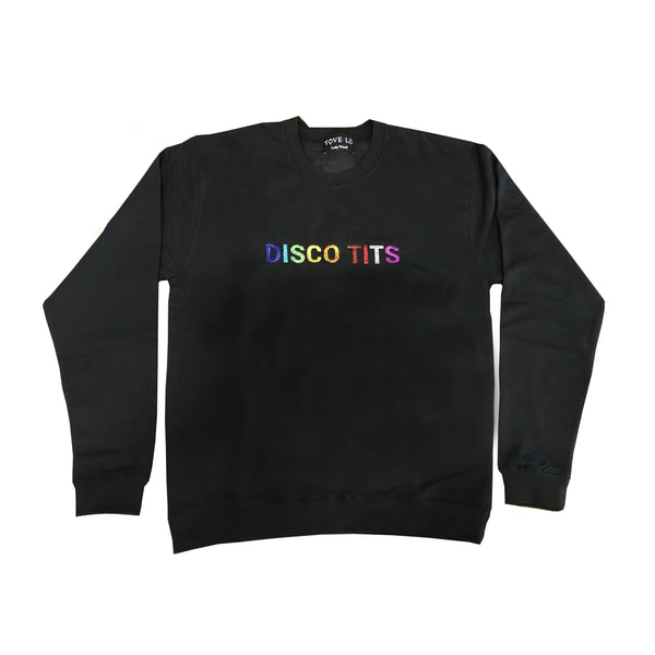 Rainbow Disco Tits Crewneck