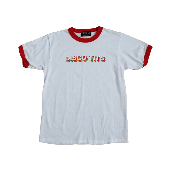 Red Ringer Disco Tits Tee